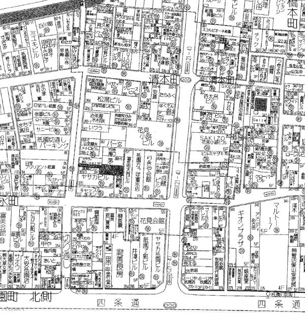 清本町店舗位置図