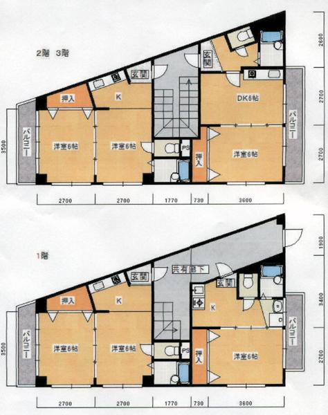 5-16北区西賀茂ハイツ-間取りa