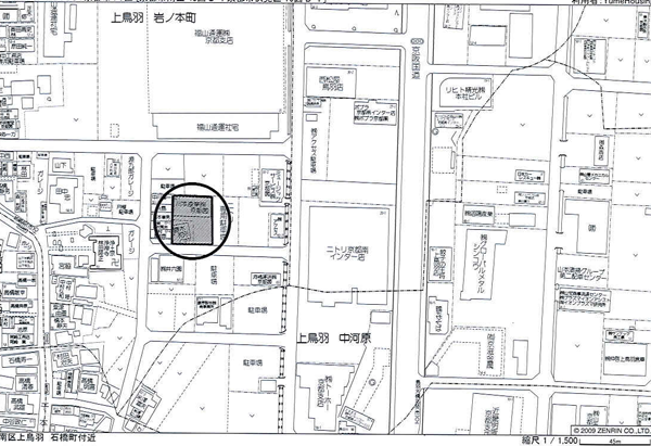 南区工場-位置図